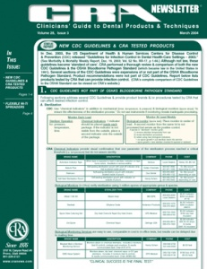 CDC Guidelines- March 2004 Volume 28 Issue 3 - 200403 - Dental Reports