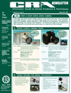 Digital Dental Cameras, Tooth Lightening- September 2004 Volume 28 Issue 9 - 200409 - Dental Reports