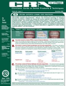 Ceramic Fixed Prostheses, Non-Latex Exam Gloves- November 2004 Volume 28 Issue 11 - 200411 - Dental Reports