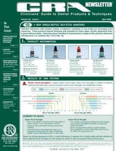 Single Bottle Self-Etch Adhesives, PFM Repair Kit- April 2005 Volume 29 Issue 4 - 200504 - Dental Reports