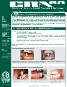 Communicating with Lab Technicians, Diamond Finishing Strips- May 2005 Volume 29 Issue 5 - 200505 - Dental Reports