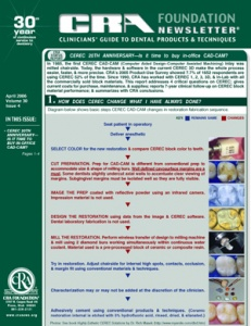 In-Office CAD/CAM- April 2006 Volume 30 Issue 4 - 200604 - Dental Reports