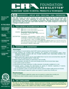 Endo-Express System, Milling Centers- February 2007 Volume 31 Issue 2 - 200702 - Dental Reports