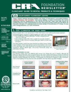 Fluorescent Lighting, Optim 33, Surface Disinfectant- April 2007 Volume 31 Issue 4 - 200704 - Dental Reports