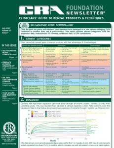 Self-Adhesive Resin Cements- July 2007 Volume 31 Issue 7 - 200707 - Dental Reports