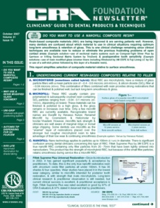 Nanofill Composite Resin, RBCs, Radiograph System, Automix Tip, Shade Taking- October 2007 Volume 31 - 200710 - Dental Reports