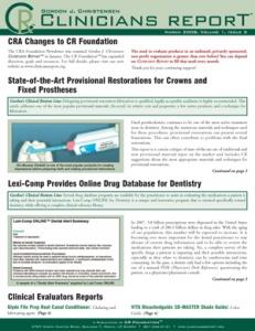 Provisional Restorations, Online Drug Database- March 2008 Volume 1 Issue 3 - 200803 - Dental Reports