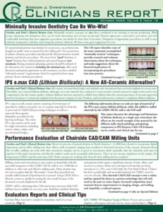 Minimally Invasive Dentistry, IPS e.max CAD, CAD/CAM Milling Units- October 2009 Volume 2 Issue 10 - 200910 - Dental Reports