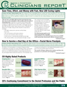 LED Curing Lights, Facial Nerve Paralysis- October 2010 Volume 3 Issue 10 - 201010 - Dental Reports