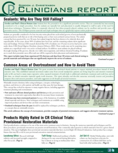 Sealants, Why are they still Failing?- June 2011 Volume 4 Issue 6 - 201106 - Dental Reports