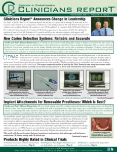 Caries detection, Implant Attachments, Removable Prostheses, November 2011 Volume 4 Issue 11 - 201111 - Dental Reports