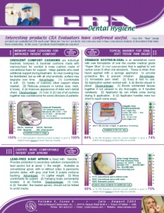 Highly Rated Products- July/August 2003 Volume 3 Issue 4 - h200307 - Hygiene Reports