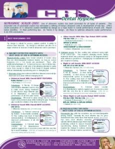 Ultrasonic Scaler- September/October 2003 Volume 3 Issue 5 - h200309 - Hygiene Reports
