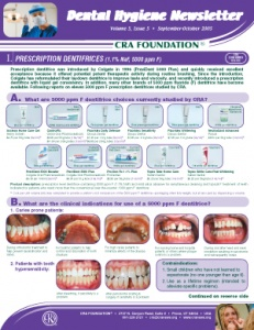Prescription Dentifrices- September/October 2005 Volume 5 Issue 5 - h200510 - Hygiene Reports