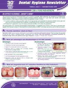 In-Office Fluoride- September/October 2006 Volume 6 Issue 5 - h200610 - Hygiene Reports