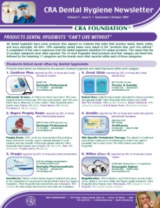 Products Hygienists Can't Live Without- September/October 2007 Volume 7 Issue 5 - h200710 - Hygiene Reports