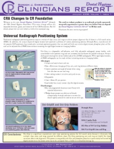 Radiograph Positioning System- January/February 2008 Volume 1 Issue 1 - h200802 - Hygiene Reports