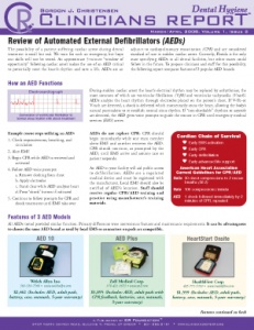 Automated External Defibrillators- March/April 2008 Volume 1 Issue 2 - h200804 - Hygiene Reports