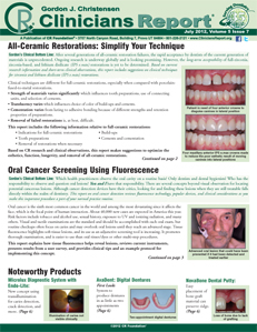 All-Ceramic Restorations, Oral Cancer Screening Using Fluorescence - July 2012 Volume 5 Issue 7 - 201207 - Dental Reports