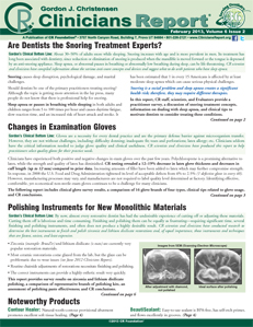 Snoring Treatment, Examination Gloves, Polishing Instruments for New Monolithic Materials – February 2013 Volume 6 Issue 2 - 201302 - Dental Reports
