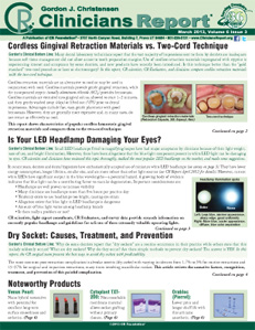 Is Your LED Headlamp Damaging Your Eyes?, Cordless Gingival Retraction – March 2013 Volume 6 Issue 3 - 201303 - Dental Reports