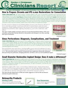 How to Prepare Zirconia & IPS e.max Restorations for Cementation, Small Diameter Restorative Implant  – April 2013 Vol 6 Issue 4 - 201304 - Dental Reports