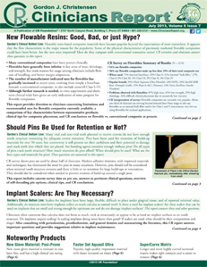New Flowable Resins, Should Pins Be Used for Retention or Not?, Implant Scalers  – July 2013 Vol 6 Issue 7 - 201307 - Dental Reports