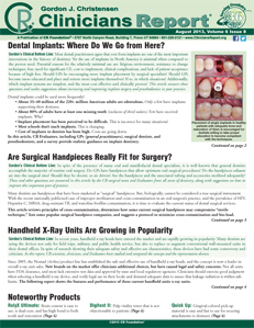 Dental Implants, Are Surgical Handpieces Really Fit for Surgery?, Handheld X-Ray Units  – August 2013 Vol 6 Issue 8 - 201308 - Dental Reports