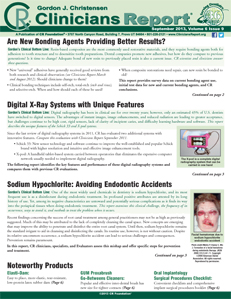 New Bonding Agents, al X-Ray Systems with Unique Features, Sodium Hypochlorite: Avoiding Endodontic Accidents – September 2013 Vol 6 Issue 9 - 201309 - Dental Reports