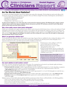 Are You Worried About Radiation? - September/October 2013 Volume 6 Issue 5 - h201310 - Hygiene Reports