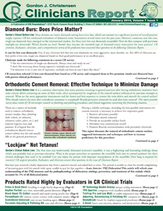 """Diamond Burs: Does Price Matter?, Orthodontic Cement Removal, """"Lockjaw"""" Not Tetanus! – January 2014 Vol 7 Issue 1 - 201401 - Dental Reports"""
