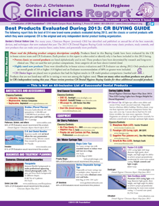 CR BUYING GUIDE: Best Products Evaluated During 2013 - November/December 2013 Volume 6 Issue 6 - h201312 - Hygiene Reports