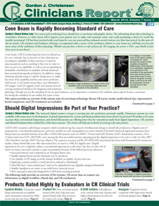 Cone Beam is Rapidly Becoming Standard of Care, Should Digital Impressions Be Part of Your Practice? – March 2014 Vol 7 Issue 3 - 201403 - Dental Reports
