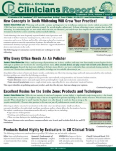 New Concepts in Tooth Whitening Will Grow Your Practice!, Why Every Office Needs an Air Polisher, Excellent Resins for the Smile Zone: Products and Techniques - September 2014 Volume 7 Issue 9 - 201409 - Dental Reports