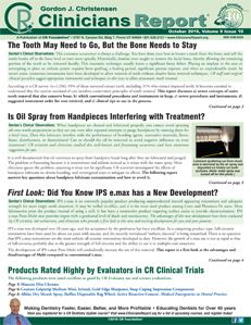 October 2016 Clinicians Report