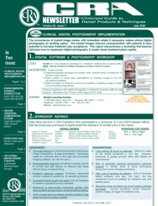 Digital Photography, Surface Disinfection- July 2002 Volume 26 Issue 7 - 200207 - Dental Reports
