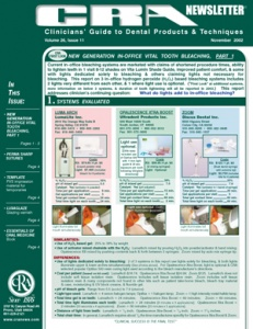 In-Office Tooth Bleaching- November 2002 Volume 26 Issue 11 - 200211 - Dental Reports