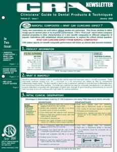 Nanofill Composites, Kodak DX4900- January 2003 Volume 27 Issue 1 - 200301 - Dental Reports