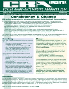 Buying Guide: CRA Newsletter December 2004, Volume 28 Issue 12 - 200412 - Dental Reports