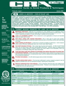 CRA Newsletter January 2005, Volume 29 Issue 1 - 200501 - Dental Reports