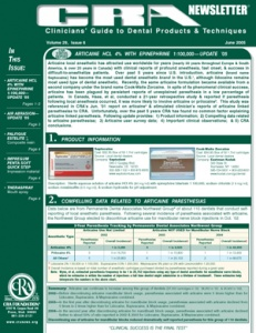 Articaine HCL, Air Abrasion- June 2005 Volume 29 Issue 6 - 200506 - Dental Reports