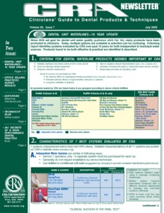 CRA Newsletter July 2005, Volume 29 Issue 7 - 200507 - Dental Reports