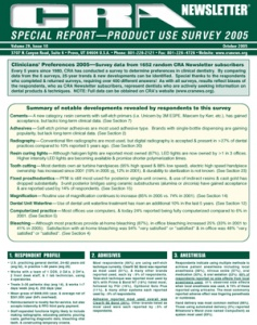 Clinicians Preference Survey- October 2005 Volume 29 Issue 10 - 200510 - Dental Reports