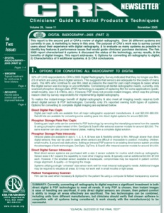 CRA Newsletter November 2005, Volume 29 Issue 11 - 200511 - Dental Reports
