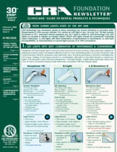 Resin Curing Lights- February 2006 Volume 30 Issue 2 - 200602 - Dental Reports
