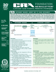 CRA Newsletter May 2006, Volume 30 Issue 5 - 200605 - Dental Reports