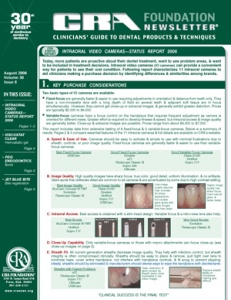 Intraoral Video Cameras- August 2006 Volume 30 Issue 8 - 200608 - Dental Reports