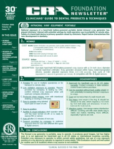 CRA Newsletter October 2006, Volume 30 Issue 10 - 200610 - Dental Reports