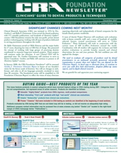Buying Guide: CRA Newsletter December 2007, Volume 31 Issue 12 - 200712