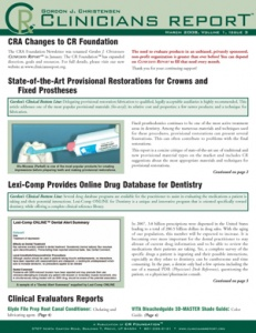 Provisional Restorations, Online Drug Database- March 2008 Volume 1 Issue 3 - 200803 - Dental Reports